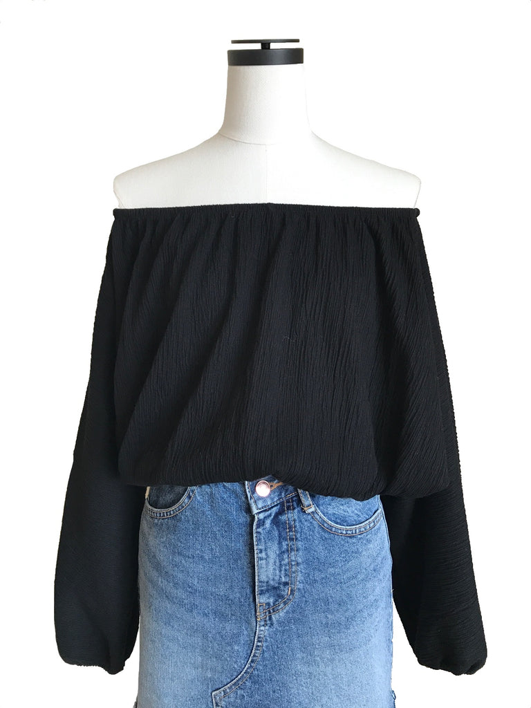 Off-shoulder short tops [SH-104]