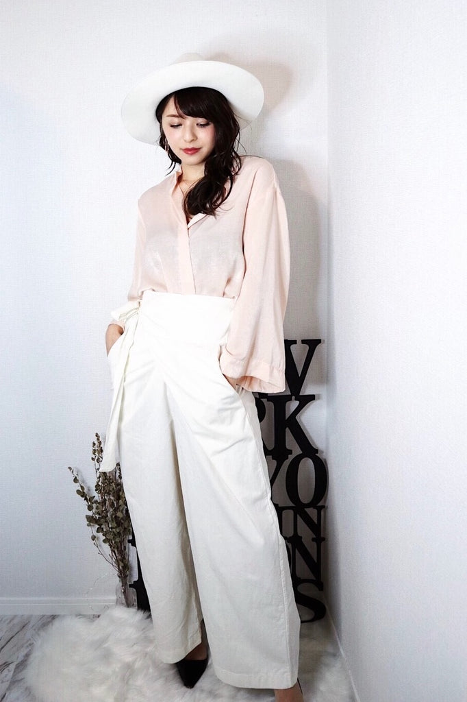 Wrap wide pants [SH-61]