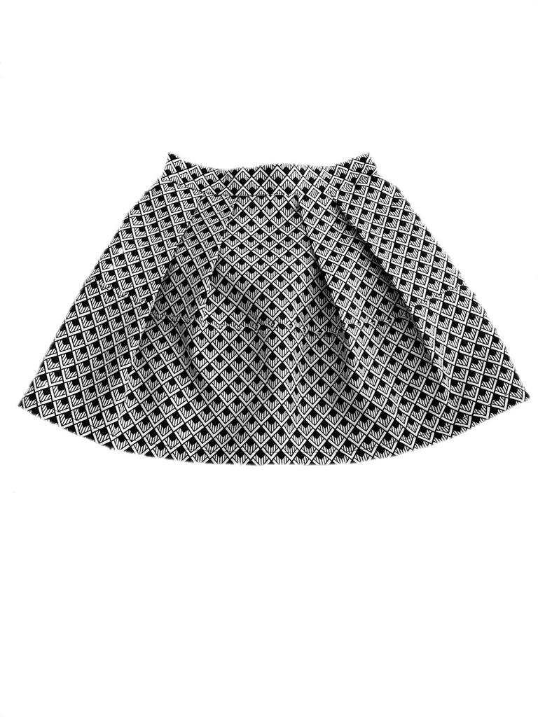Geometric mini skirt [SH-82]