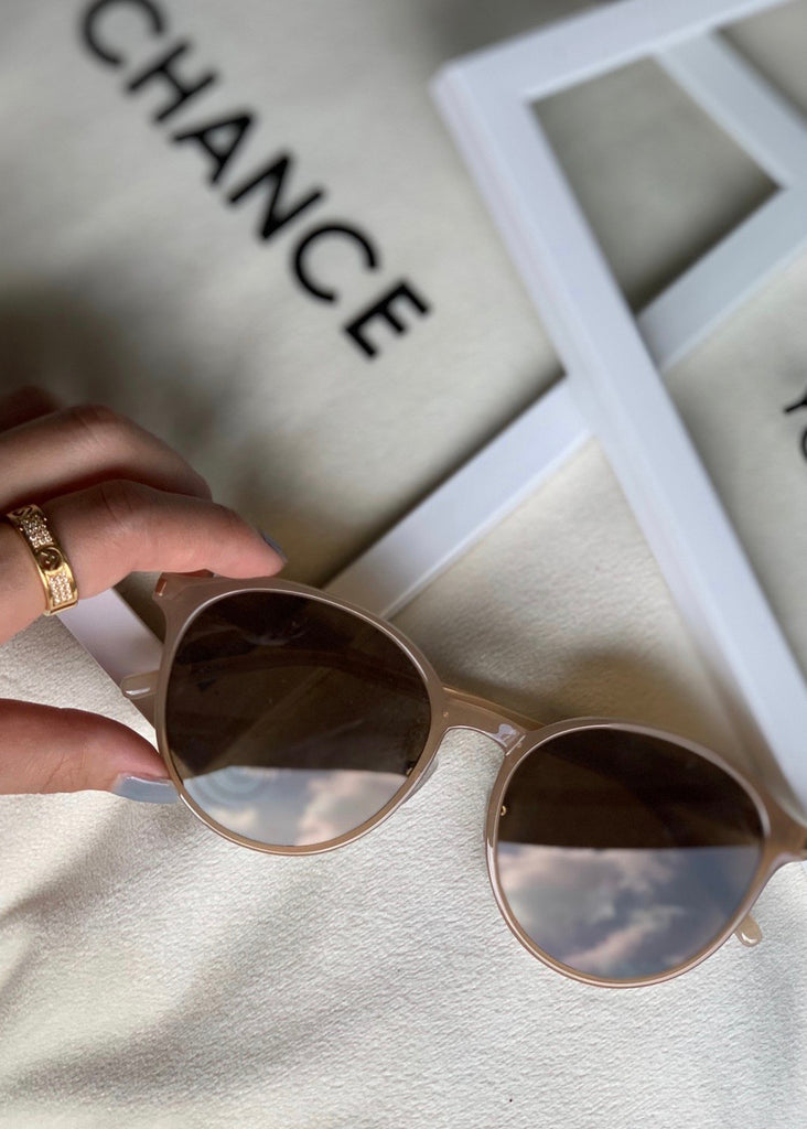 beige colour sunglasses