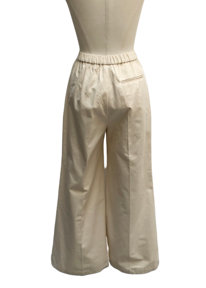 Center press semi wide pants