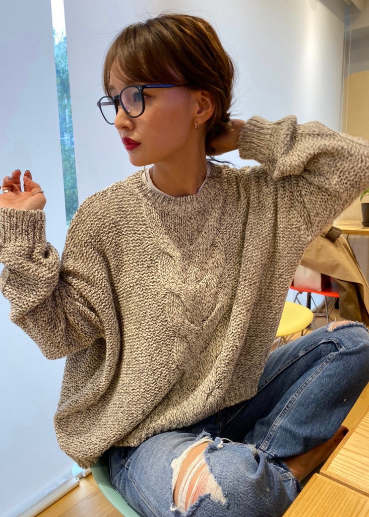 Long sleeve marble knit [SH-174]