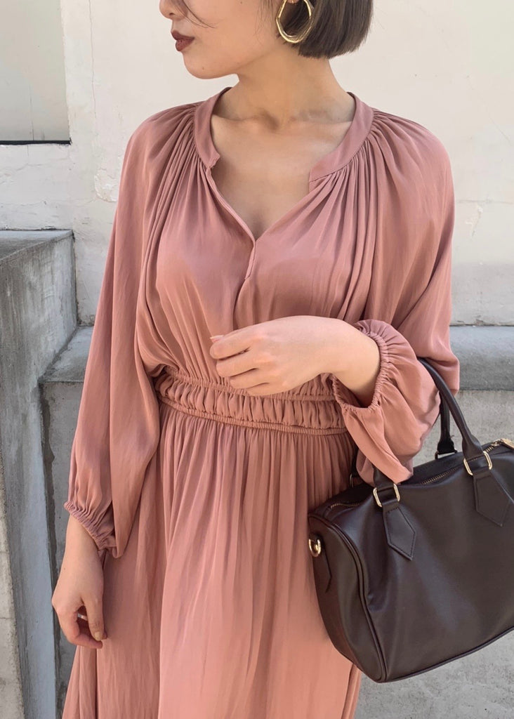 v neck long one-piece