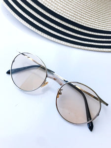 metallic frame sunglasses[SH-128]