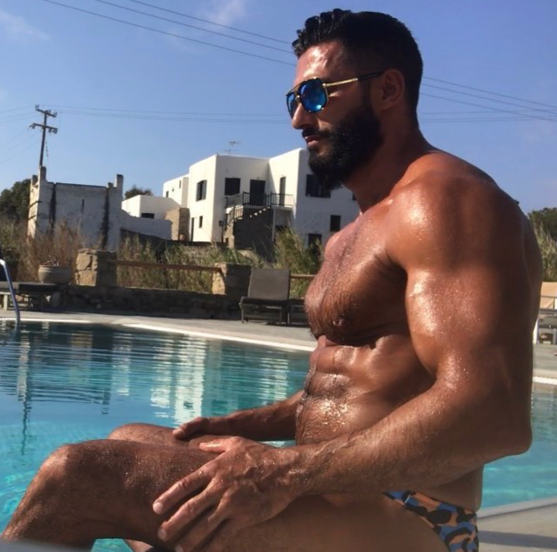 Onlyfans Free Video Stephan Greving Halif Faruk daddy muscle hairy Hot Male Model Arab
