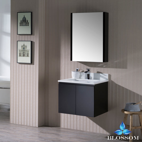 "Monaco 24"" Wall Mount Vanity Set with Medicine Cabinet"