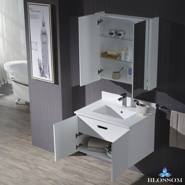 "Monaco 30"" Wall Mount Vanity Set with Medicine Cabinet"