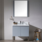 "Monaco 30"" Vanity Set with Mirror and Chrome Legs"