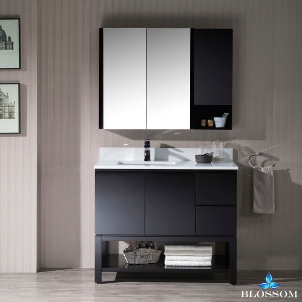 "Monaco 42"" Left Vanity Set with Medicine Cabinet and Wall Cabinet"