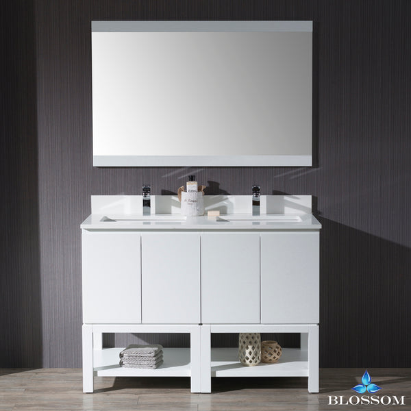 "Monaco 48"" Double Vanity Set with Mirror"