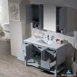 "Monaco 48"" Vanity Set with Mirror and Wall Cabinets"