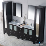 "Sydney 102"" Vanity Set with Mirror Linen Cabinet"