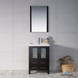 "Sydney 24"" Vanity Set with Acrylic Top and Mirror"