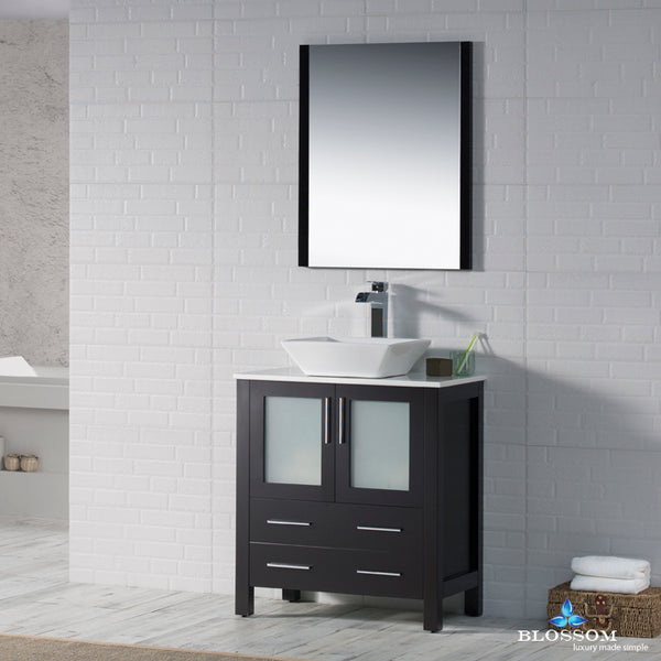 "Sydney 30"" Vanity Set with Vessel Sink and Mirror"