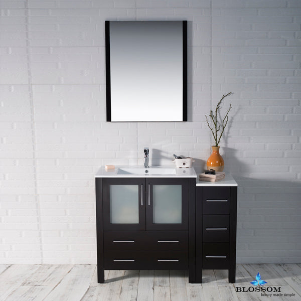 "Sydney 42"" Vanity Set with Side Cabinet"