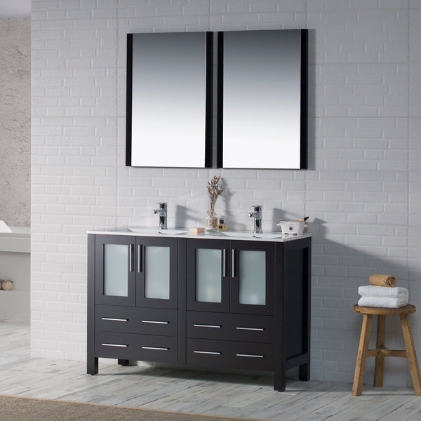 "Sydney 48"" Double Vanity Set with Mirrors"