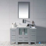 "Sydney 48"" Vanity Set with Vessel Sink and Double Side Cabinets"