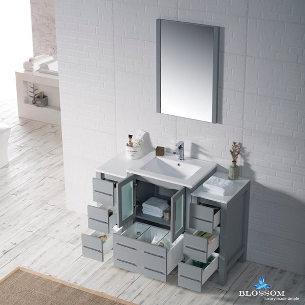 "Sydney 48"" Vanity Set with Double Side Cabinets"