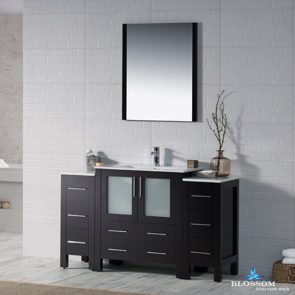 "Sydney 54"" Vanity Set with Double Side Cabinets"