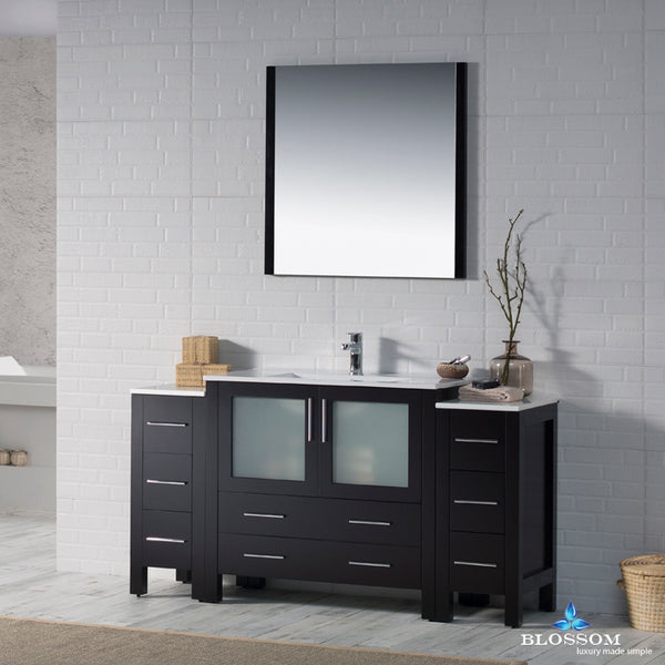 "Sydney 60"" Vanity Set with Double Side Cabinets"