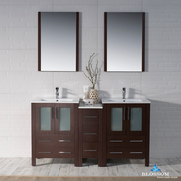 "Sydney 60"" Double Vanity Set with Mirrors"