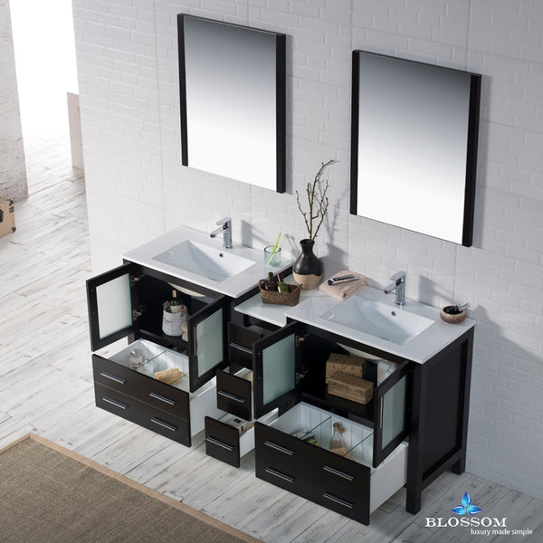 "Sydney 72"" Double Vanity Set with Mirrors"