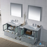 "Sydney 84"" Double Vanity Set with Mirrors"