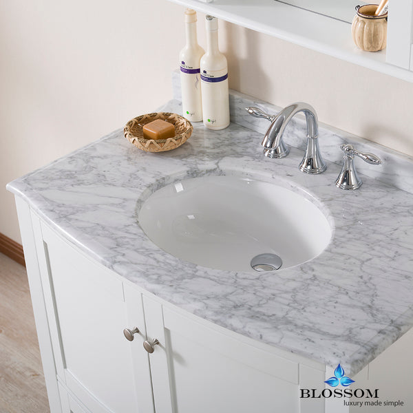 "Rome 36"" Vanity Set with Mirror and Wall Cabinets"
