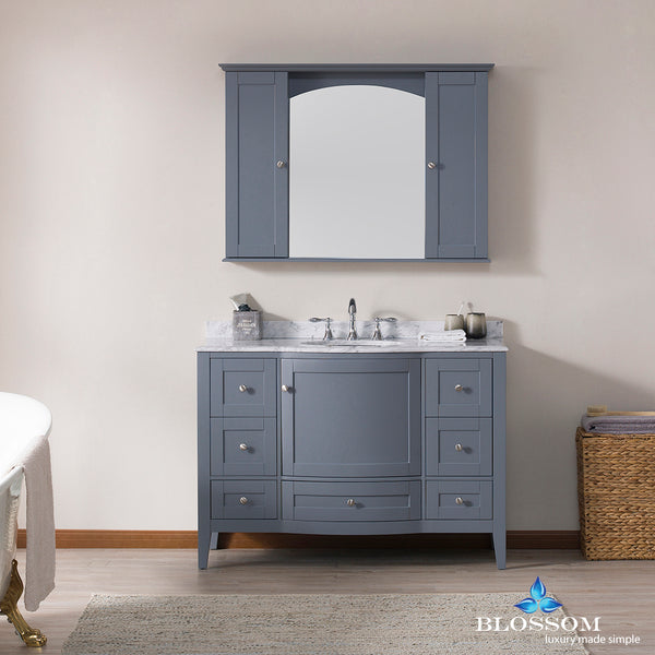 "Rome 48"" Vanity Set with Mirror and Wall Cabinets"