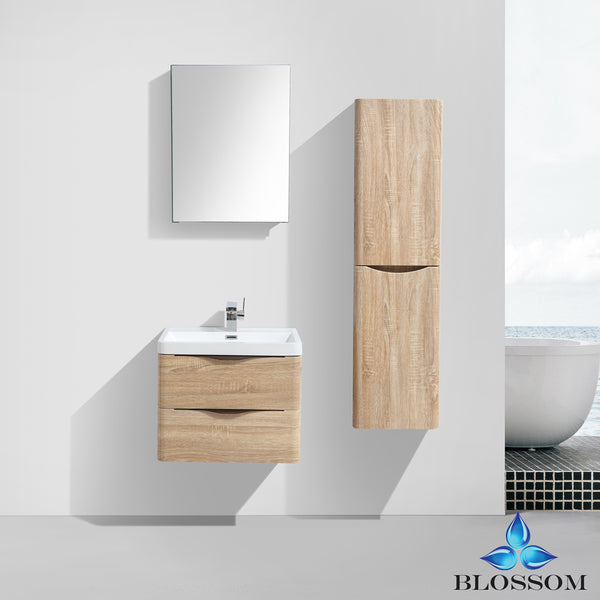 "Madrid 24"" Vanity Set with Side Cabinet"
