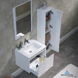 "Paris 24"" Vanity Set with Side Cabinet"