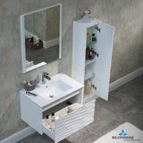 "Paris 30"" Vanity Set with Side Cabinet"