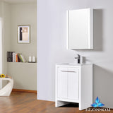 "Milan 24"" Vanity Set with Medicine Cabinet"