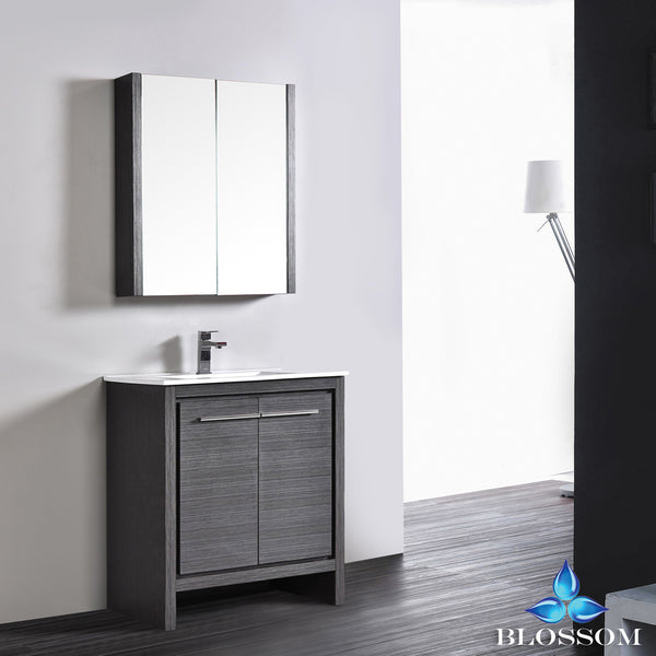 "Milan 30"" Vanity Set with Medicine Cabinet"