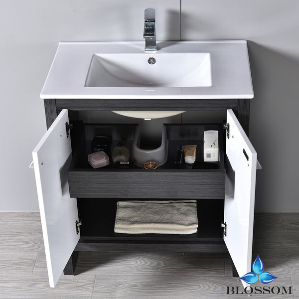 "Milan 30"" Vanity Set with Mirror"