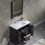 "Milan 36"" Vanity Set with Mirror"