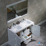 "Milan 48"" Double Vanity Set with Mirror"