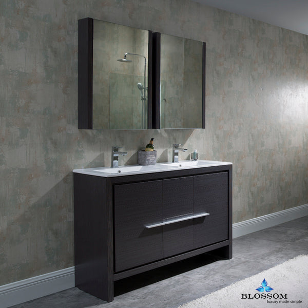 "Milan 48"" Double Vanity Set with Medicine Cabinets"