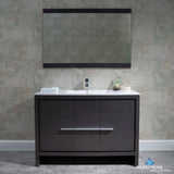 "Milan 48"" Vanity Set with Mirror"
