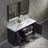 "Milan 60"" Double Vanity Set with Mirrors"