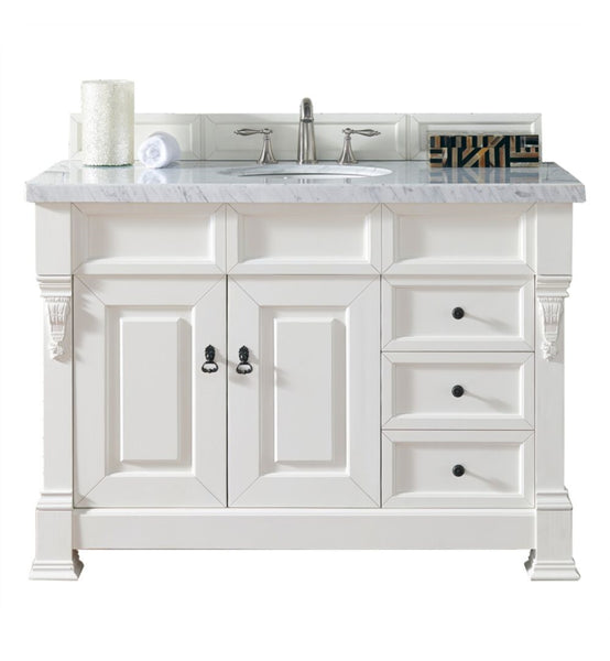 "Brookfield 48"" Single Cabinet w/ Drawers, Cottage White"