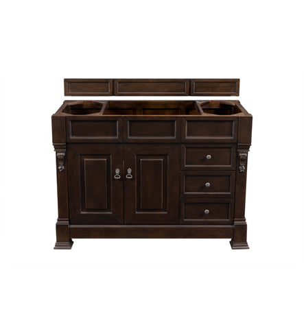 "Brookfield 48"" Single Cabinet w/ Drawers, Burnished Mahogany"