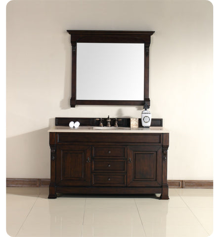 "Brookfield 60"" Single Cabinet, Burnished Mahogany"