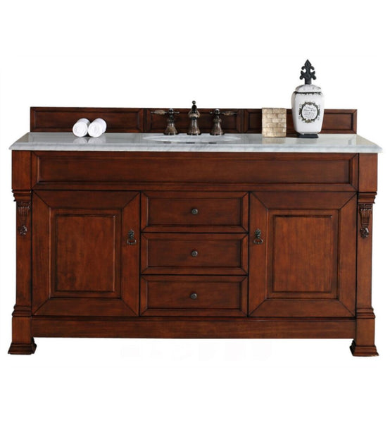 "Brookfield 60"" Single Cabinet, Warm Cherry"