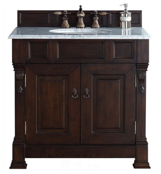 "Brookfield 36"" Single Cabinet, Burnished Mahogany"