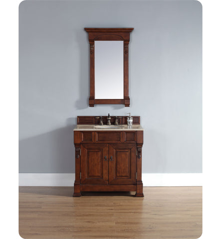 "Brookfield 36"" Single Cabinet, Warm Cherry"
