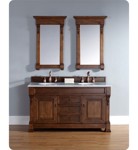 "Brookfield 60"" Double Cabinet, Country Oak"