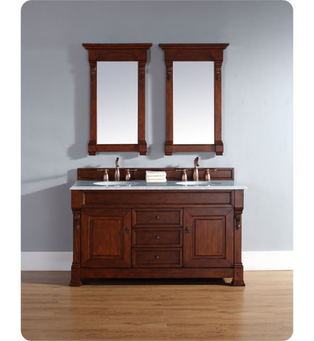 "Brookfield 60"" Double Cabinet, Warm Cherry"