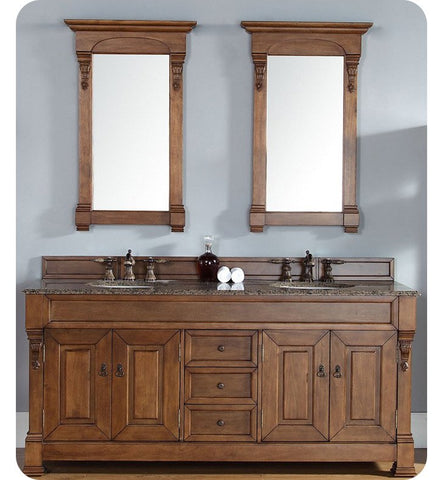 "Brookfield 72"" Double Cabinet, Country Oak"