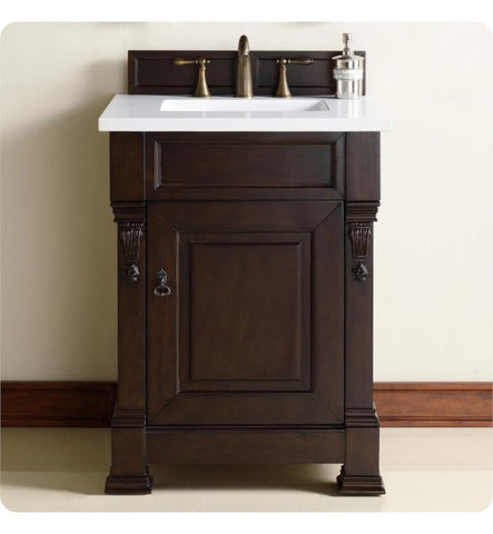 "Brookfield 26"" Single Cabinet, Burnished Mahogany"
